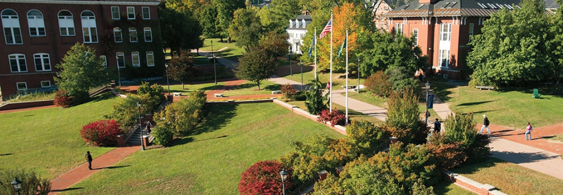 Rooftop view of Plymouth State University campus