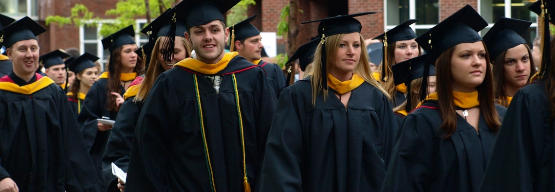Keene State students at commencement