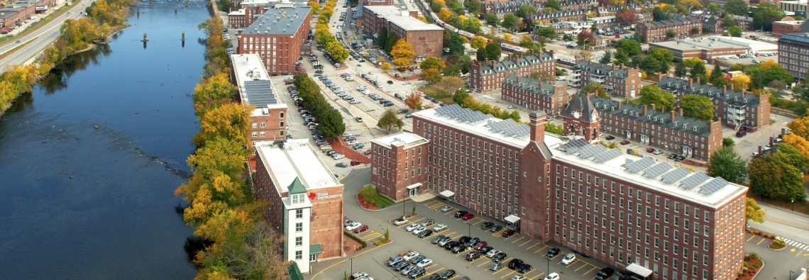 Aerial view of UNH Manchester